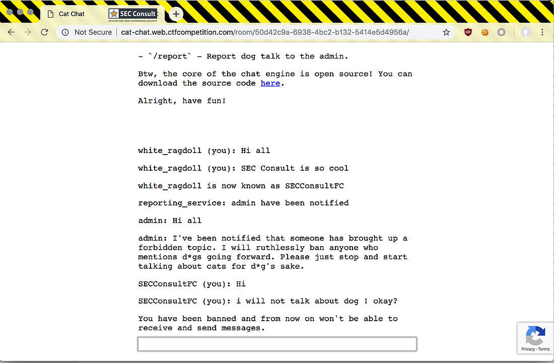 Chat hackint web Matrix /